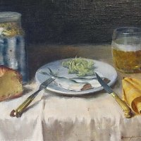 Sörös csendélet / Still-life with beer (1958)