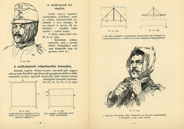 A katonai ruházkodási útmutató egy lapja / One page of the Guidelines for soldiers' proper clothing (1915)