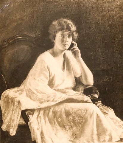 Alpár Gézáné arcképe / Portrait of Mrs Géza Alpár (1920-as évek / 1920s)