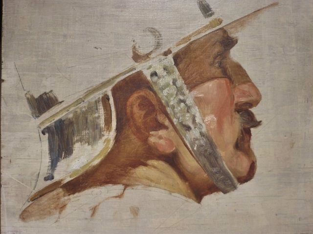 Katonafej, tanulmány / Study of a soldier's head (1916 ?)